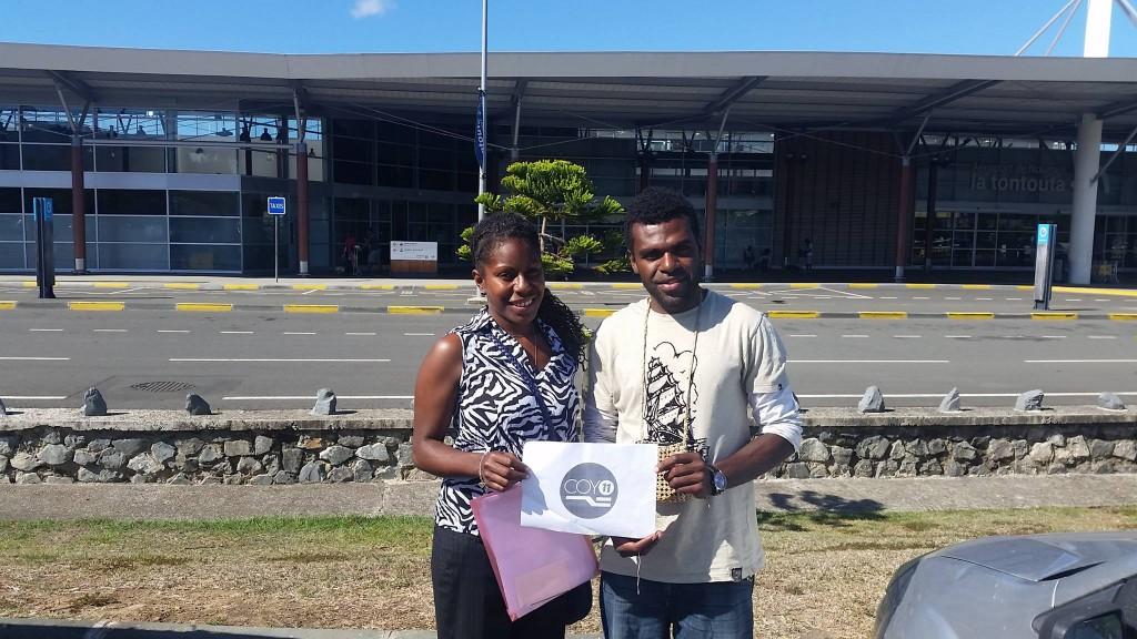 Tommy et Sabrina, deux jeunes Vanuatais venus participer à la COY 11 (©COY Nouméa)