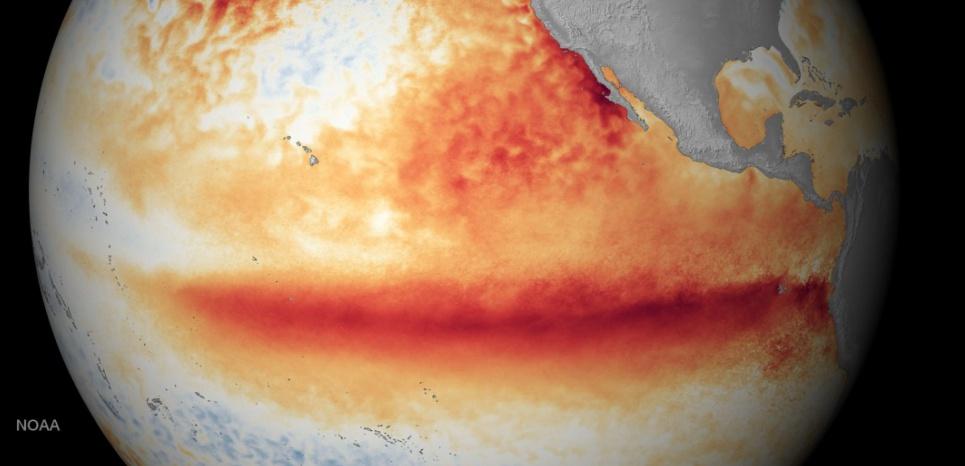 Les eaux équatoriales du Pacifique enregistrent une hausse des températures inquiétante ©NOAA