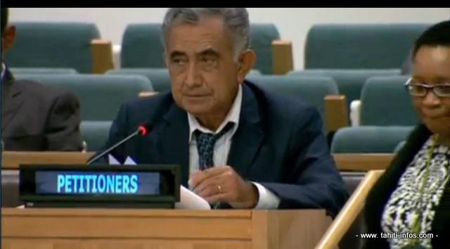 Oscar Temaru aux Nations-Unies en octobre 2013 ©Tahiti-infos