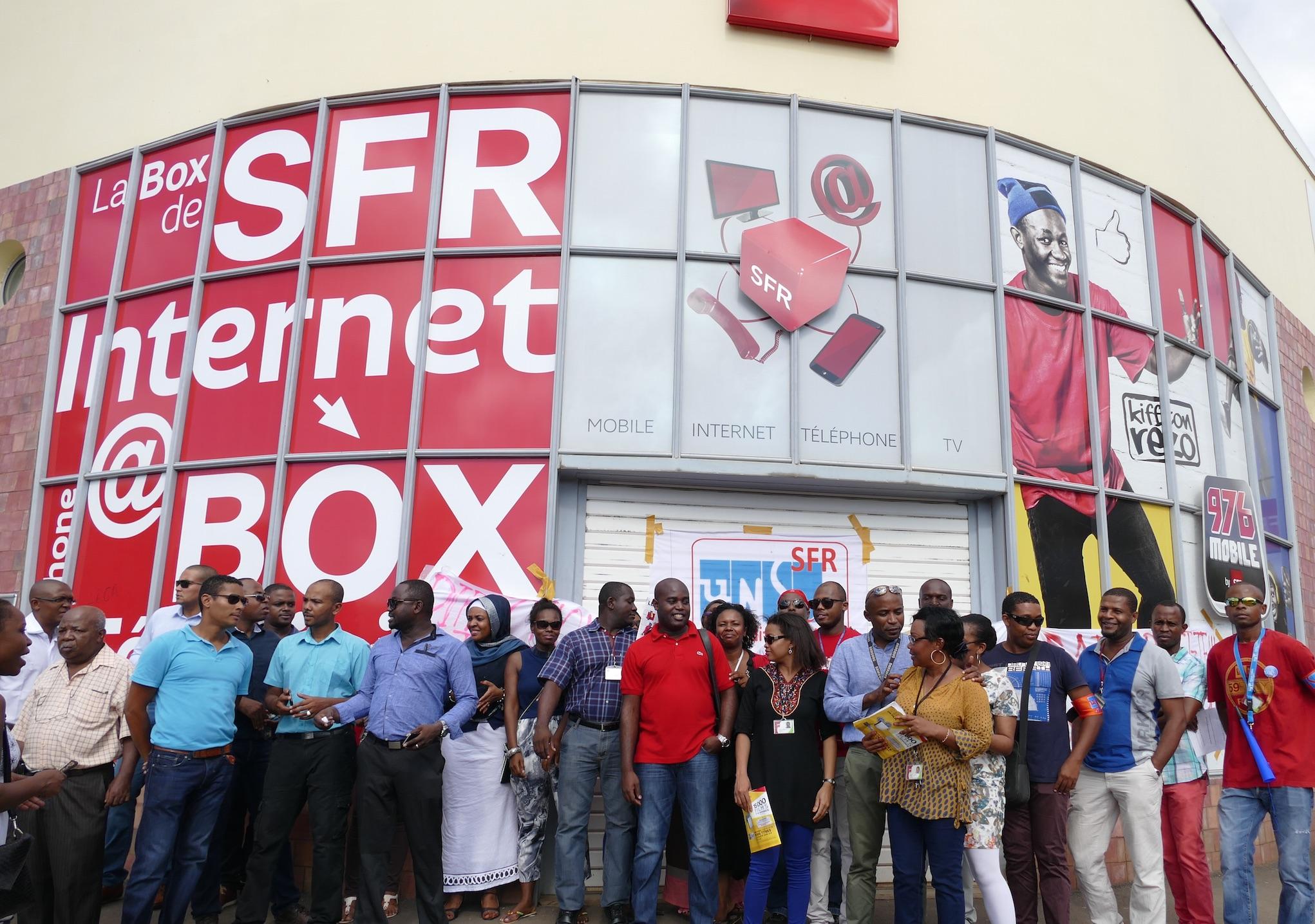 Les salariés de SFR à Mayotte étaient en grève en mai 2015 ©Journal de Mayotte