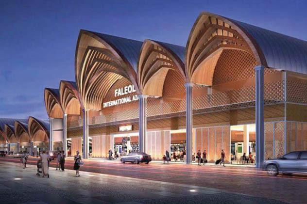 Les rénovations de l'aéroport international des îles Samoa a, en partie, été financé par un investisseur chinois ©Tahiti-infos