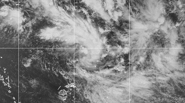 La dépression située à 750 km de Suva aux Samoa pourrait s'intensifier et devenir un cyclone dans les heures qui arrivent ©Fiji Meteorological Service