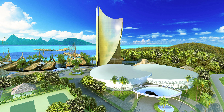 """Le projet de complexe hôtelier """"Mahana Beach"""" ©DR"""