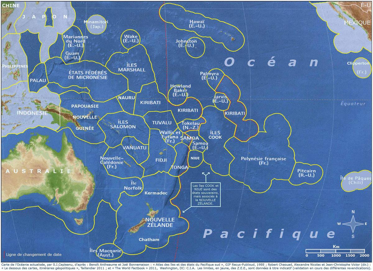 La ZEE polynésienne, une étendue de 5 millions de km qui attise les convoitises ©Spiridon Ion Cepleanu / Creative Commons