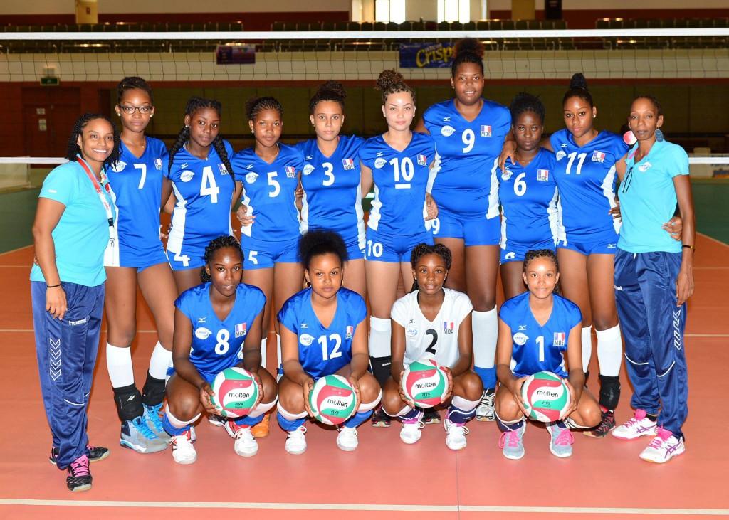 La Sélection féminine de la Martinique (© 10th Caribbean Junior Volleyball Championships )