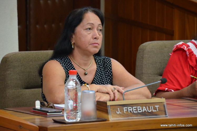 Joëlle Frebault, représentante UPLD (indépendantistes) à l'Assemblée de Polynésie française, est vraisemblablement la 29ème voix manquante à la majorité Fritch ©Tahiti-infos