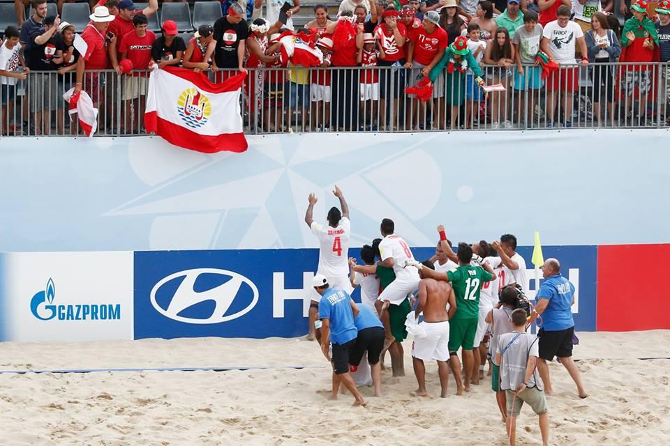 la force des Tiki Toa, c'est aussi un peuple qui soutien ses champions jusqu'au bout du Monde. Ici en 2015, au Portugal pour la Coupe du Monde ©Getty Image