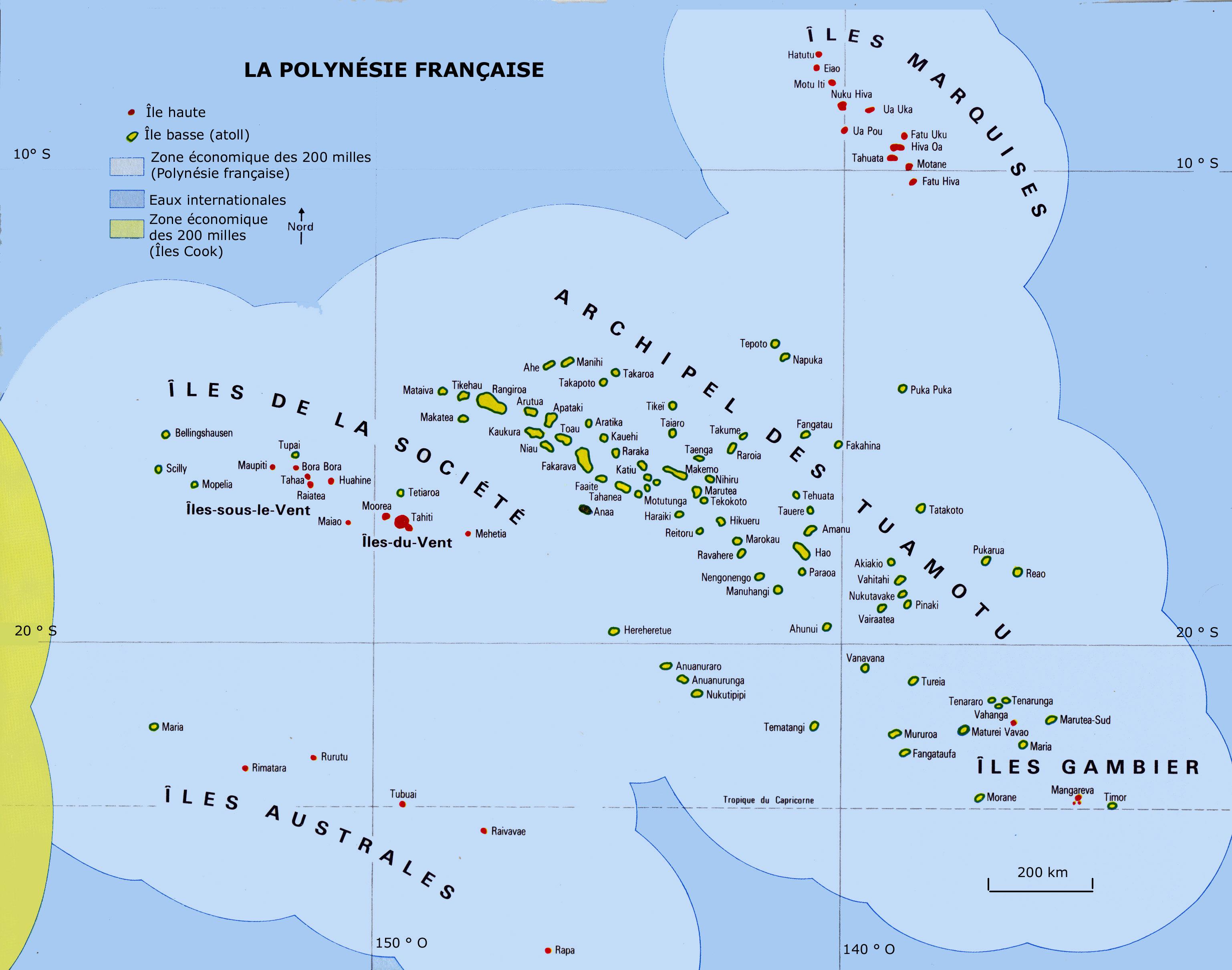 La Polynésie française, une aire maritime de 5 millions de km2, aussi vaste que l'Europe ©DR