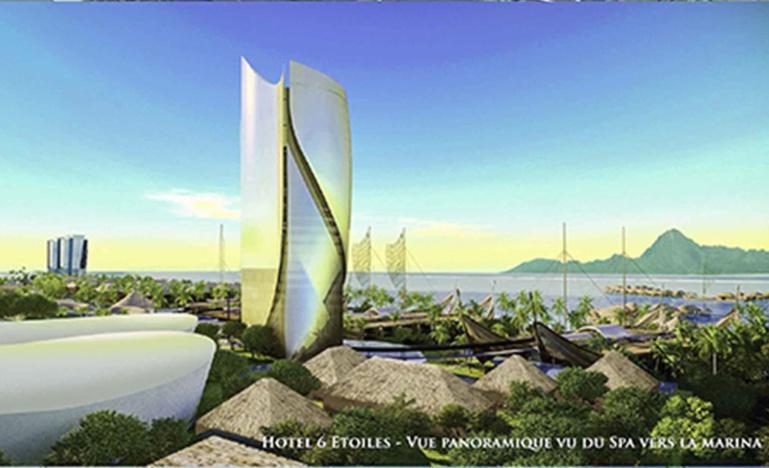 Le projet Tahiti Mahana Beach ©Forebase