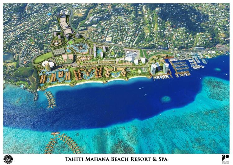 Au départ, trois cabinets d'architectes se sont penchés sur l'appel d'offre lancé par le gouvernement en 2013 : un cabinet français, un chinois et un hawaïen. C'est le projet Hawaïen de Forebase qui a finalement été retenu et devrait servir de base pour les nouveaux exploitants du complexe touristique ©Forebase