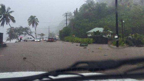Des pluies normales, néanmoins impressionnantes se sont abattues ce week-end à Tahiti ©Teiva Tahiti Ribet