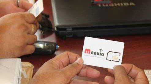 """Le premier réseau de téléphonie mobile à Wallis et Futuna, baptisé """"Manuia"""", est effectif depuis le 22 décembre 2015 ©Wallis et Futuna 1ère"""