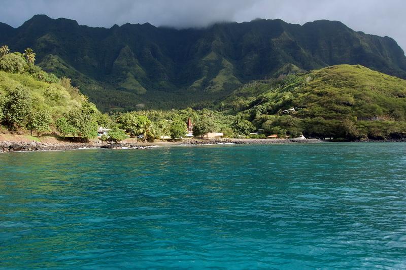L'île de Tahuata aux Marquises, où les écoliers prennent part à la protection du littoral ©Tahiti Tourisme