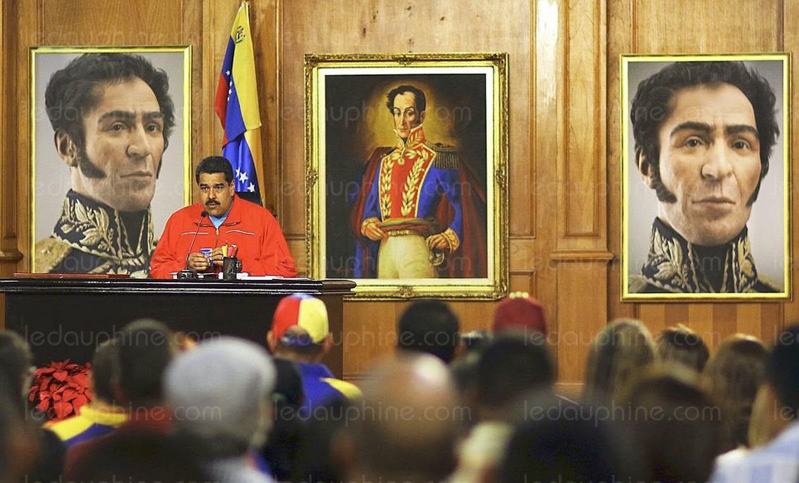 Nicolas Maduro annonce à la télévision sa défaite lors des législatives du 6 décembre ©AFP