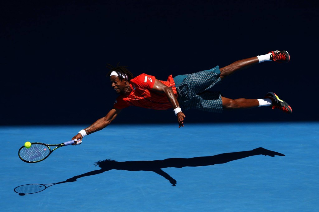 Gael Monfils lors de son dernier match lors de  l'Open d'Australie © Open d'Australie