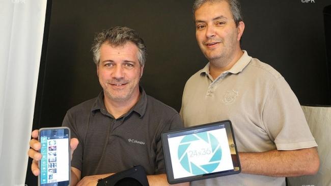 Laurent Capmas et Frédéric Caillé présentent l'application 24x36 ©IPRéunion