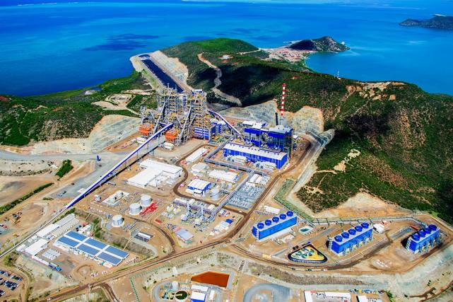 L'usine de Koniambo Nickel, menacée par un arrêt de son activité, est finalement sauvée ©Antoine Leveau