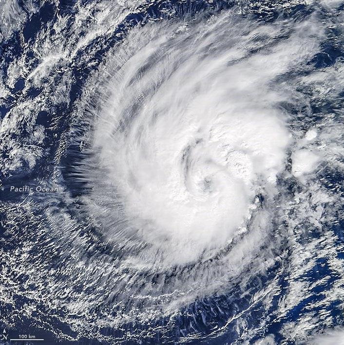 L'ouragan Pali dans le Pacifique le 12 janvier 2016 - MODIS