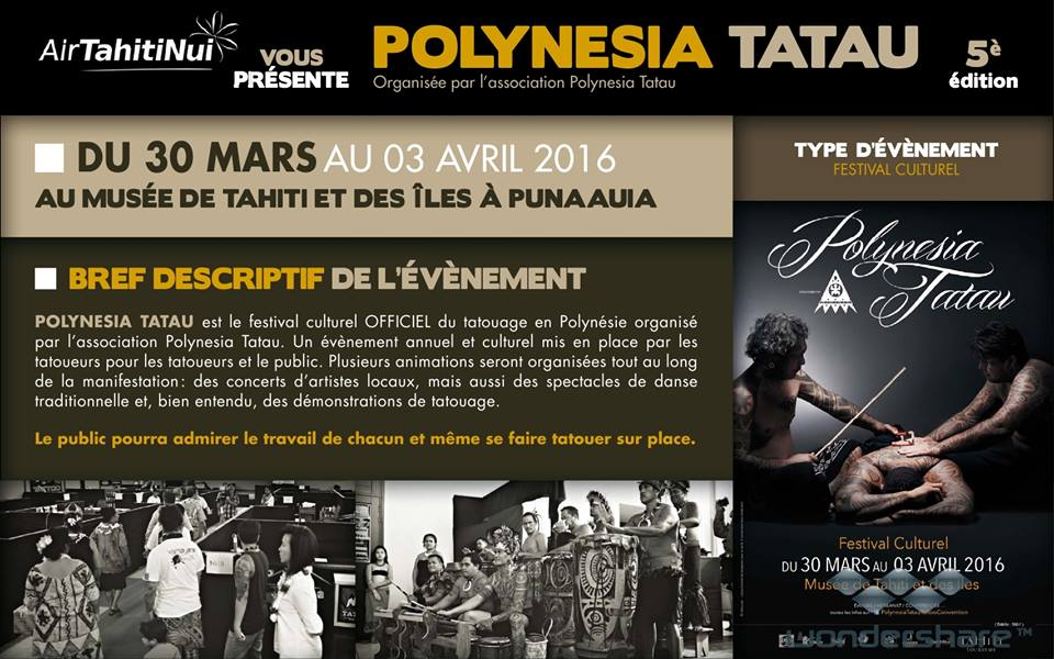 ©Facebook Polynesia Tatau Tattoo Convention