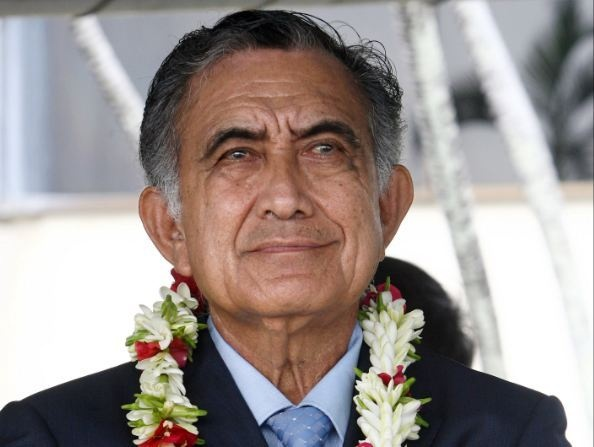 Oscar Temaru, leader souverainiste de la Polynésie française et candidat aux Présidentielles de 2017 ©DR