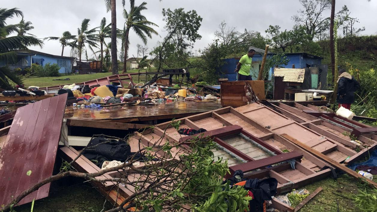 En février, les îles Fidji ont été frappées par le plus puissant cyclone jamais enregistré dans l'Hémisphère sud. Le réchauffement climatique est le principal coupable de l'intensification des aléas climatiques ©DR