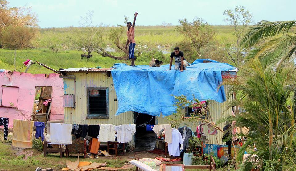 Le 20 février dernier, les îles Fidji ont durement été touchées par Winston. Bilan : 44 morts et 32 000 sans-abris ©Fijian Government