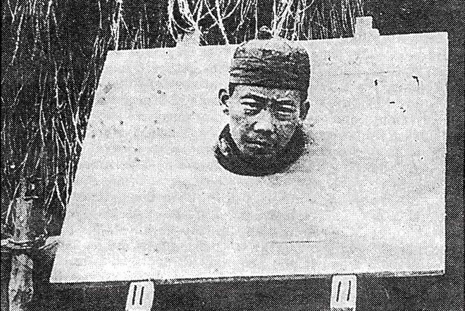 Chim Soo Kung se déclare coupable de la mort d'un homme lors d'une bagarre, en 1869. Il sera guillotiné ©Tahiti Heritage