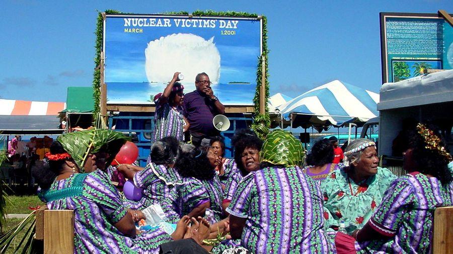 Manifestation anti-nucléaire aux îles Marshall ©DR