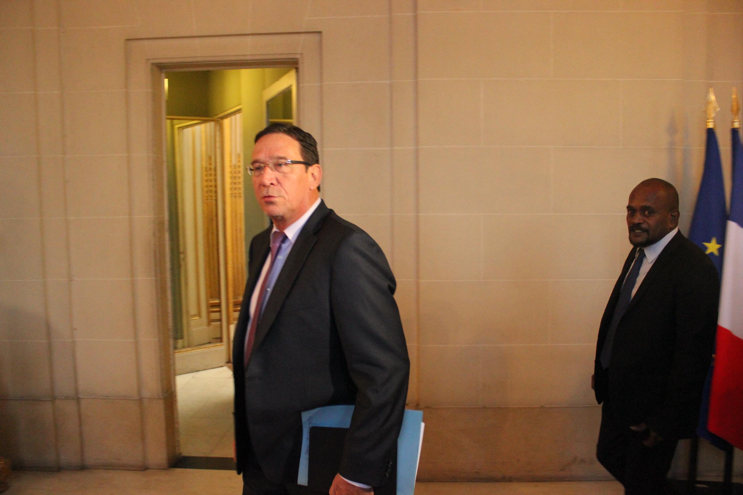 Philippe Gomez, lors du dernier Comité des signataires des Accords de Nouméa ©Tenahe Faatau / Outremers360