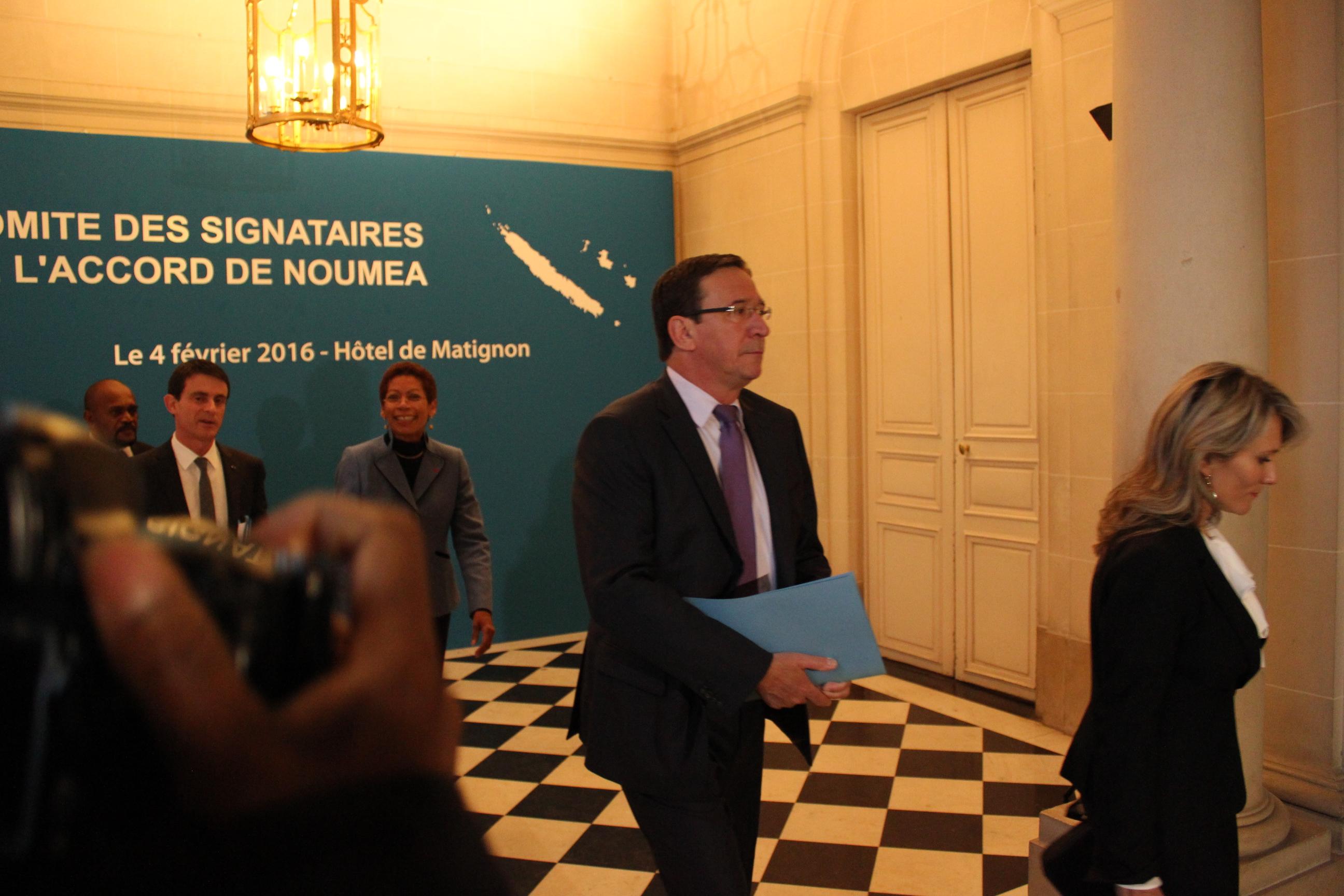 Philippe Gomes, député de la Nouvelle Calédonie et membre du CA d'Eramet, lors du dernier comité des signataires © Tenahe Faatau