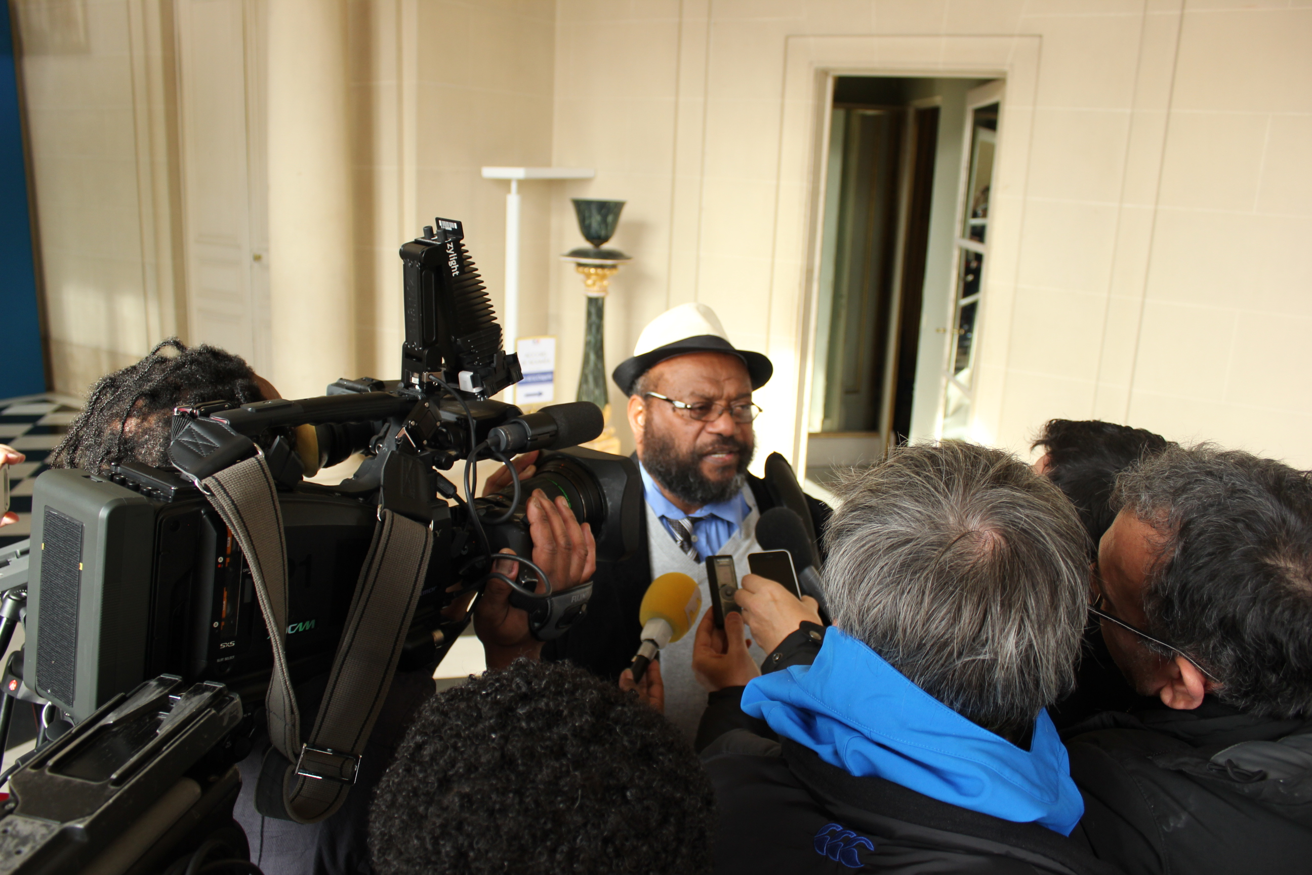 A la sortie des discussions, Victor Tutugoro, porte-parole de l'UNI, a tenu à affirmer la prise en charge de la crise du nickel ©TF
