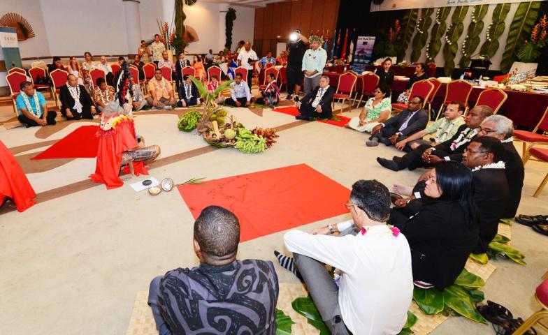 Cérémonie du kava à Tahiti, lors du 25e conseil des ministres de la South Pacific Tourism Organisation (SPTO) ©Présidence de la Polynésie française