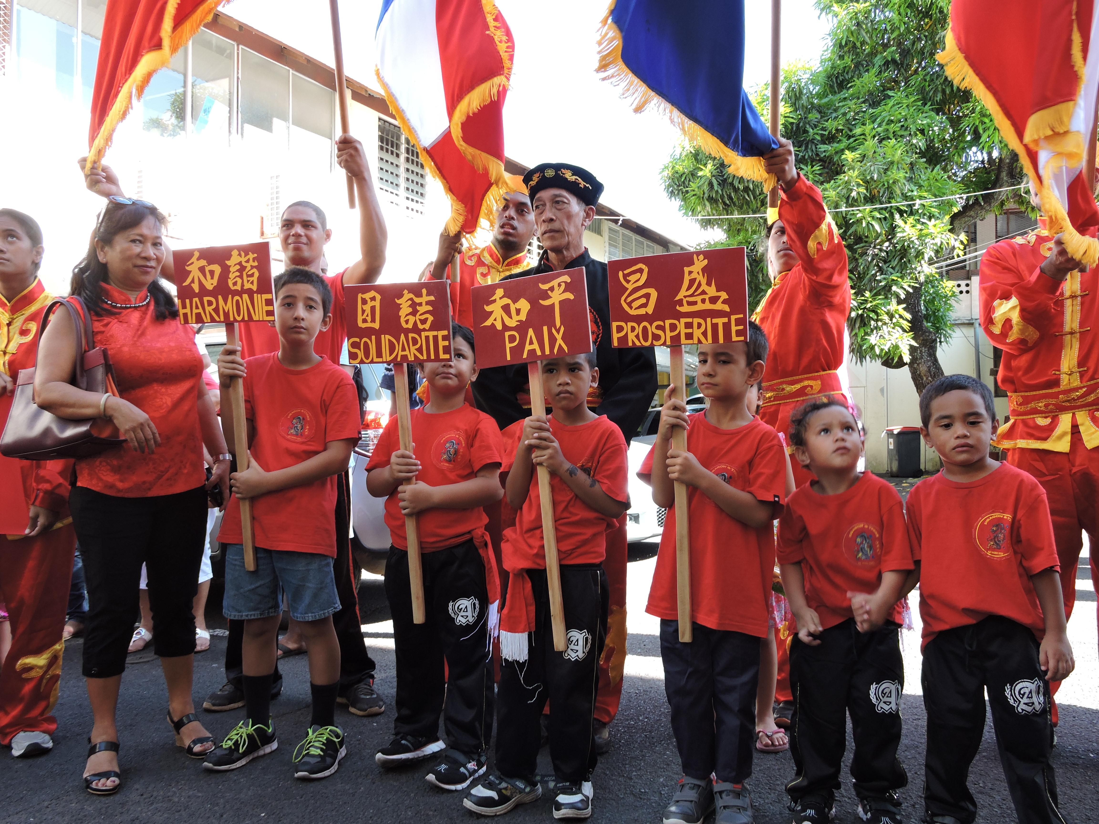 Tous les ans, la Communauté chinoise de Polynésie française fête son Nouvel An. De nombreux Polynésiens y prennent part, les frontières entre cultures ayant pratiquement disparues ©Tahiti Infos