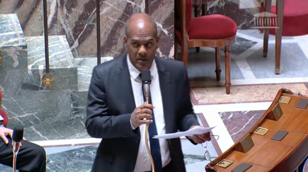 Serge Letchimy lors de la discussion de sa proposition de loi à l'Assemblée nationale le 24 mars dernier