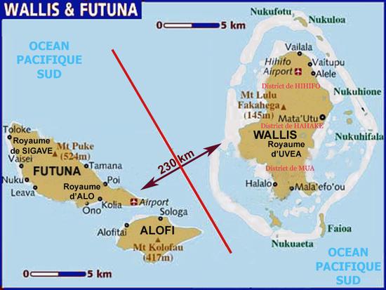 Les trois royaumes de Wallis et Futuna : Uvea (Wallis), Alo (Futuna) et Sigave (Futuna) ©Préfecture