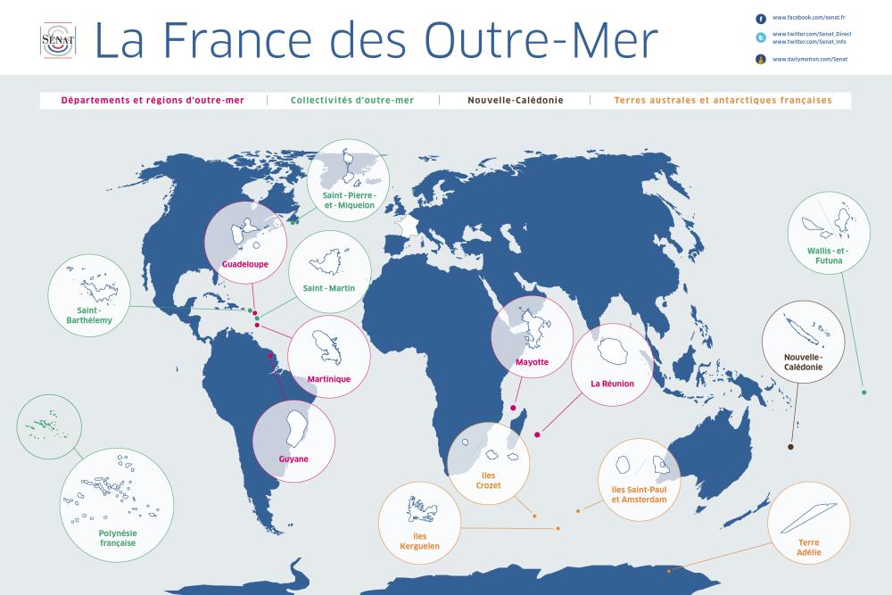 L'Outre-mer : 97% de la ZEE et 80% de la biodiversité française ©Sénat