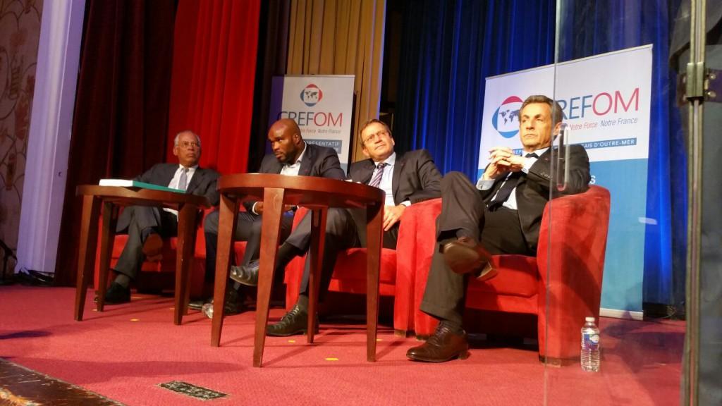 Jean-Marc Mormeck, fraîchement nommé délégué interministériel à l'égalité des chances des Français d'Outre-mer, lors du diner du CREFOM