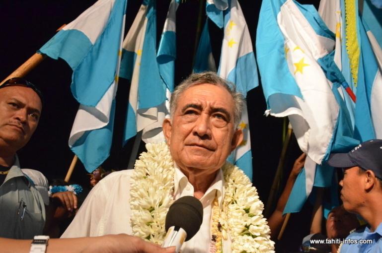 Oscar Temaru, historique leader indépendantiste de la Polynésie française a obtenu en 2013 la réinscription du territoire sur la liste des pays à décoloniser de l'ONU ©Tahiti-infos
