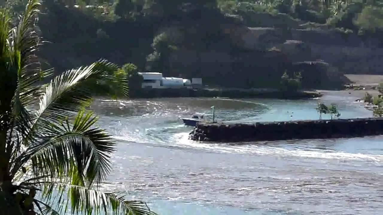 Le Tsunami qui a frappé le Japon en 2011 est arrivé jusqu'en Polynésie française. Les effets les plus visibles étaient aux îles Marquises ©Capture Youtube - Eric Olivier / Catherine Chavaillon