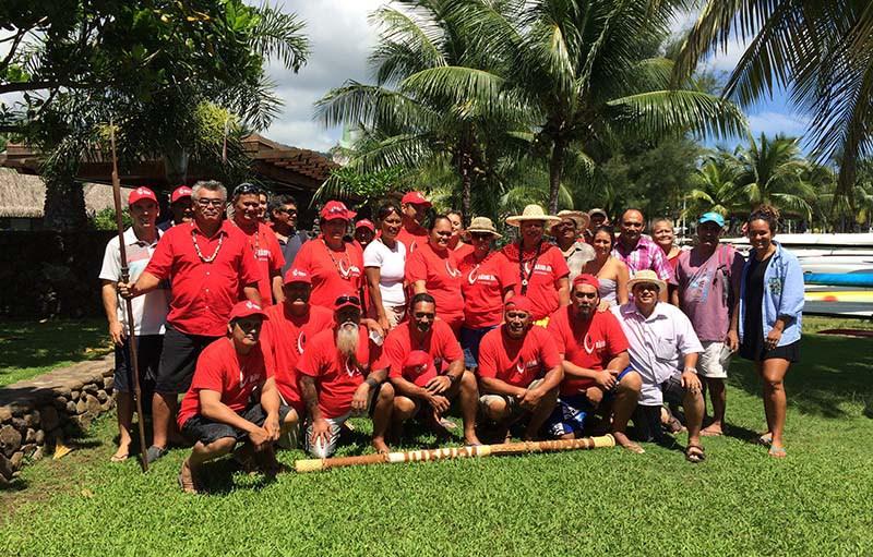 Une délégation des îles Australes s'est rendue cette semaine à Tahiti pour défendre leur projet d'aire marine protégée ©Facebook Rahui Nui no Tuha'a Pae