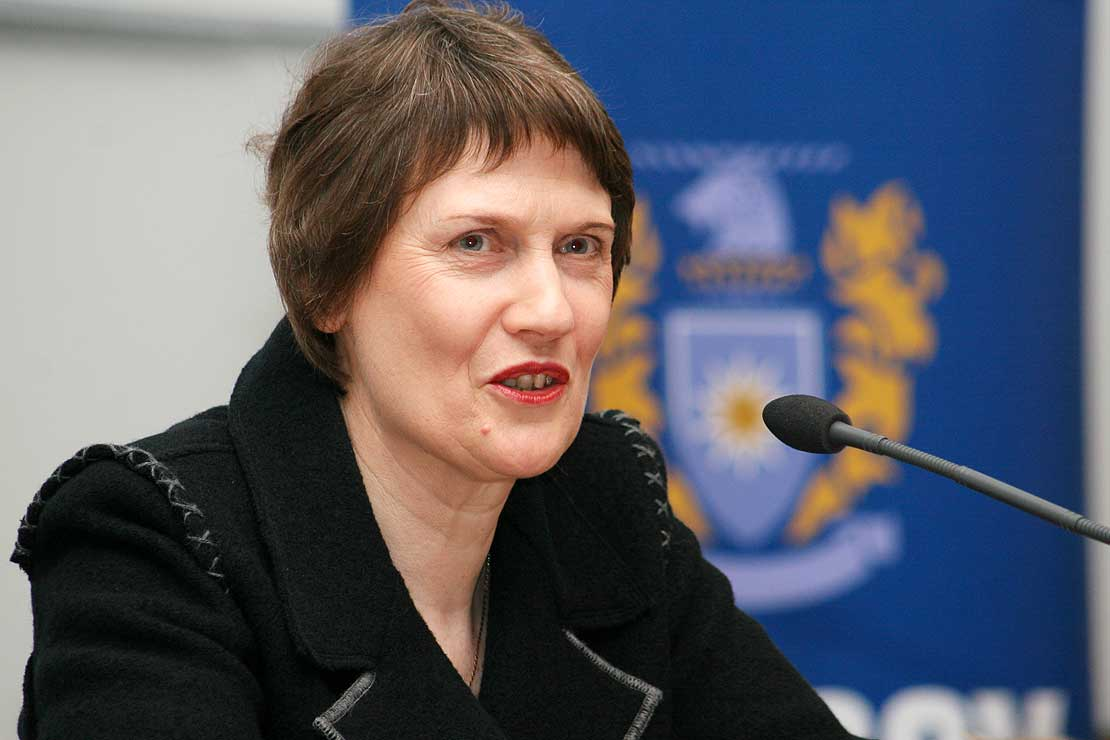 Helen Clark, ancienne Première ministre de la Nouvelle-Zélande et candidate à la succession de Ban Ki-moon ©Microscopy-PM