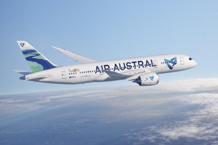 La compagnie Air Austral supplante Air France et Emirates. Elle débute demain ses rotations Mayotte-Paris directs avec son Dreamliner récemment acquis ©Air-infos.com