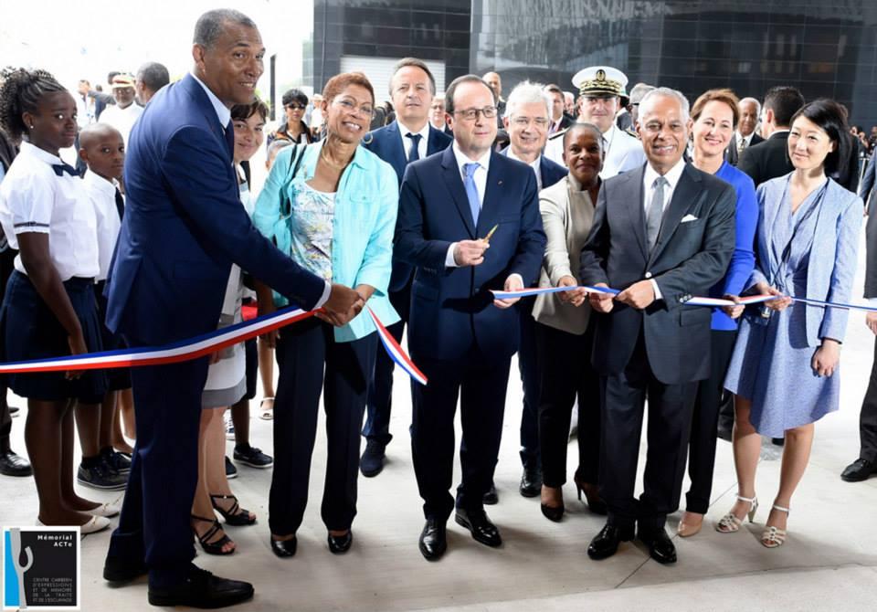 10 mai 2015: en Guadeloupe, lors de l'inauguration du Mémorial Acte