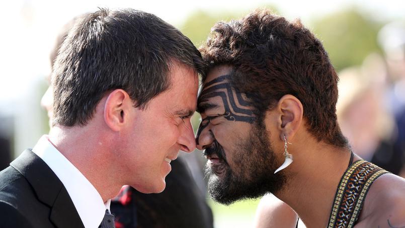Manuel Valls, lors de sa visite en Nouvelle-Zélande ©Michael Bradley / AFP