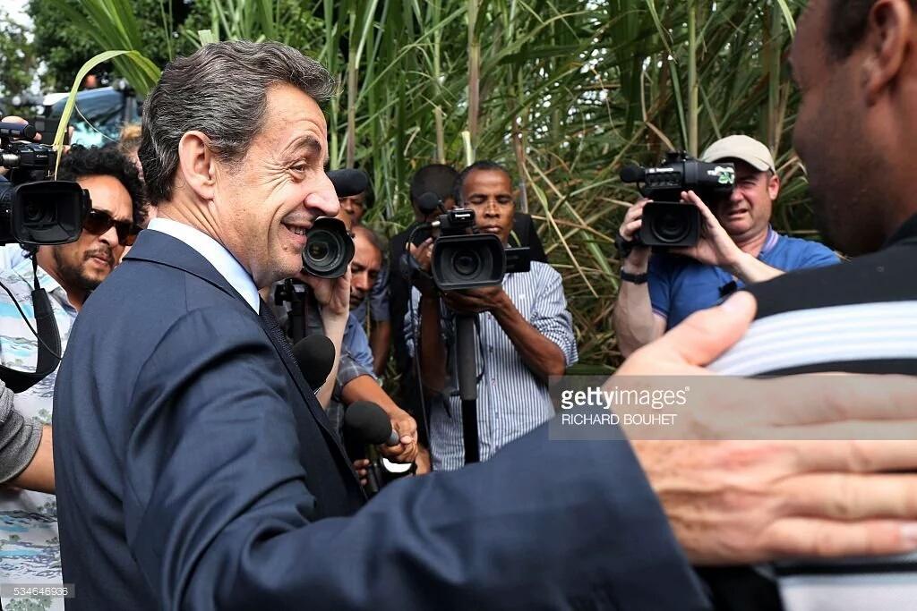 Nicolas Sarkozy à la rencontre des acteurs de la filière canne à sucre ©