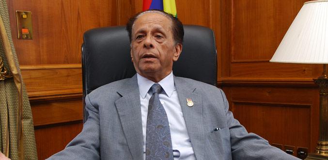 Le Premier ministre de l'île Maurice, Sir Anerood Jugnauth ©DR