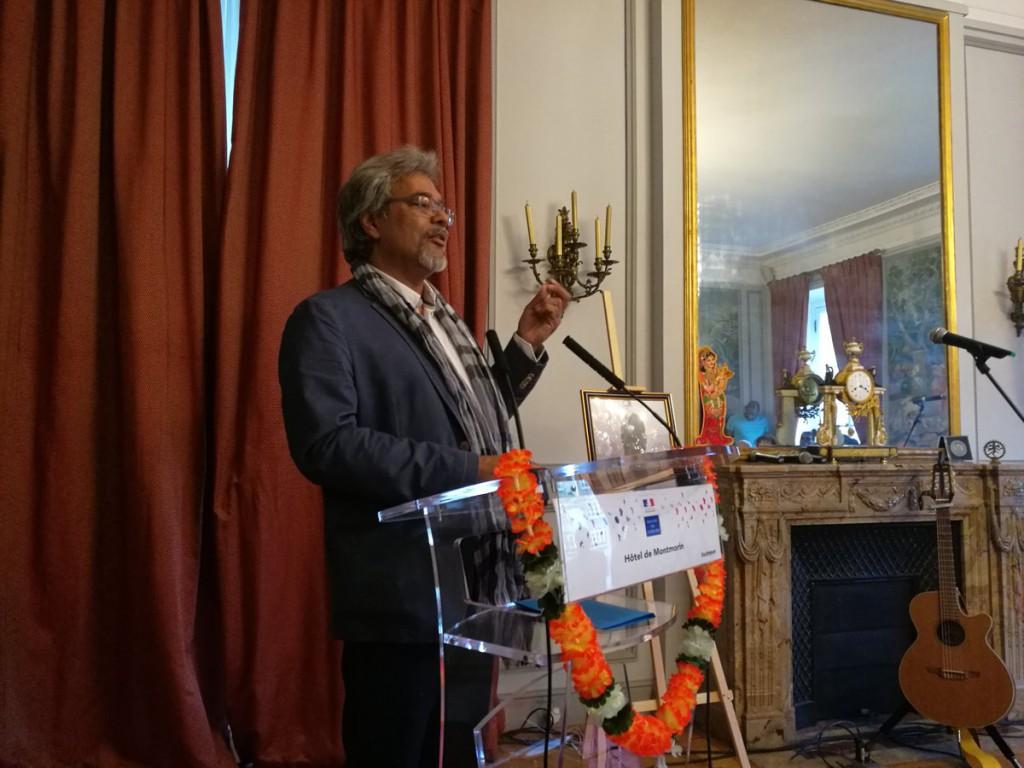 Khal Torabully, spécialiste de l'engagisme, a expliqué le travail d'Henry Sidambarom dans sa lutte pour le droit des travailleurs indiens