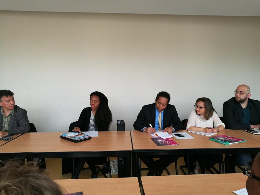 Au centre: Lorine Bozin-Marc, présidente de l'Association Jeunesse Outre-mer aux cotés de Faridy Attoumane, conseiller technique jeunesse et économie sociale et solidaire à la Délégation interministérielle pour l'égalité des Chances des Français d'Outre-mer
