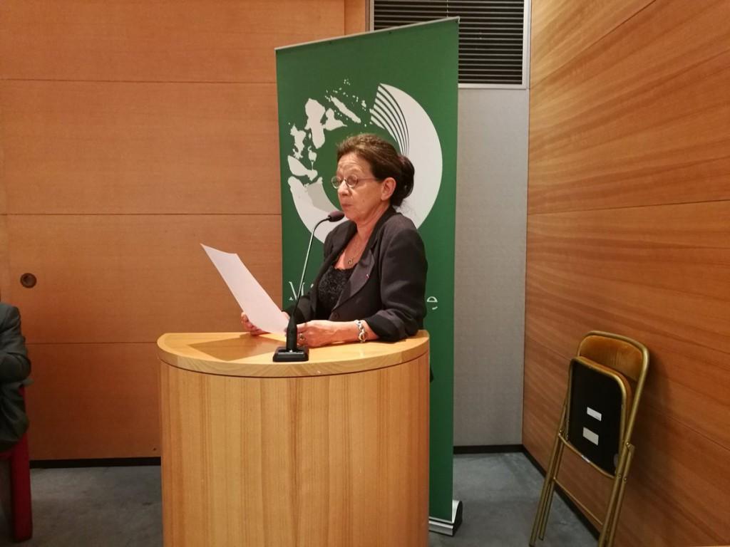 Dominique Martin-Ferrari, directrice d'Outremers Métamorphoses , a dirigé l'ensemble des débats lors de ce colloque