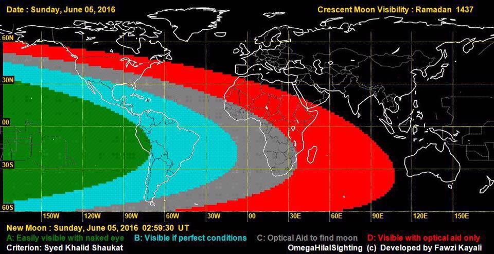 """Selon la page Facebook """"Islam Réunion 974"""", le Ramadan n'a pu commencer ce lundi à la Reunion en raison d'une lune non visible à l'oeil nu © Islam Réunion 974"""